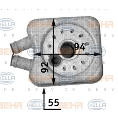 BEHR HELLA SERVICE Version ALTERNATIVO, Intercambiador de calor, Aceite de motor