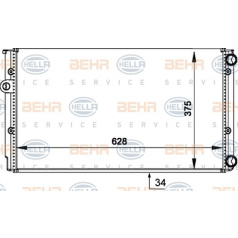 BEHR HELLA SERVICE Version ALTERNATIVE, Wärmetauscher, Motorkühlung
