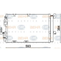 BEHR HELLA SERVICE Version ALTERNATIVO, Condensador