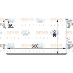 BEHR HELLA SERVICE Version ALTERNATIVE, Kondensator