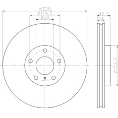PRO High Carbon, Disco de freno