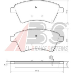 Kit pastiglia freno/materiale d'attrito
