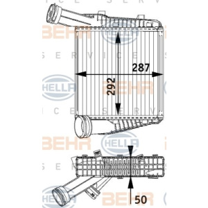 BEHR HELLA SERVICE *** PREMIUM LINE ***, Heat Exchanger, Intercooling