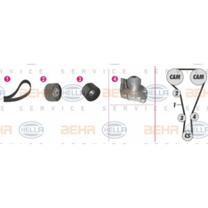 BEHR HELLA SERVICE *** PREMIUM LINE ***, Waterpomp/ Distributieriem set