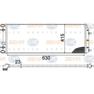 BEHR HELLA SERVICE Version ALTERNATIVO, Intercambiador de calor, Refrigeración del motor