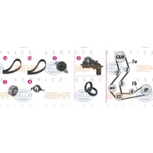 BEHR HELLA SERVICE *** PREMIUM LINE ***, Water Pump-/Timing Belt Set
