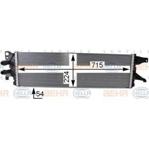 BEHR HELLA SERVICE *** PREMIUM LINE ***, Heat Exchanger, Intercooler