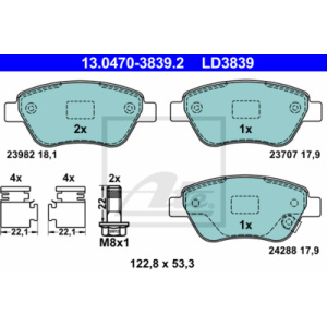 ATE Ceramic, Brake Pad Set