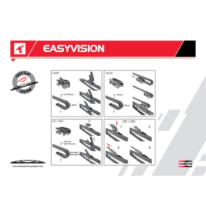 Easyvision Conventional, Spazzola tergi