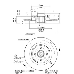 BEARING DISC LINE, Disco de freno