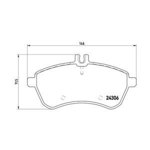 DIRECTIONAL BRAKE PADS, Brake Pad Set