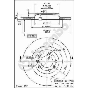 COATED DISC LINE, Brake Disc