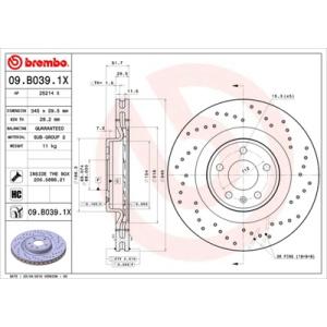 brembo xtra line brake disc 09 b039 1x brake disc car. Black Bedroom Furniture Sets. Home Design Ideas