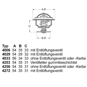 Thermostat, Kühlmittel