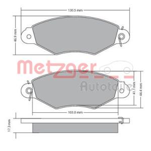 metzger kit de plaquettes de frein 1170330 plaquette de frein pi ces auto at. Black Bedroom Furniture Sets. Home Design Ideas