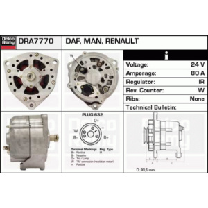 Remanufactured DELCO REMY (Heavy Duty), Generador