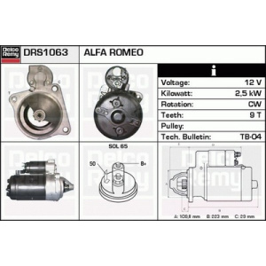 Remanufactured DELCO REMY (Heavy Duty), Motorino d'avviamento
