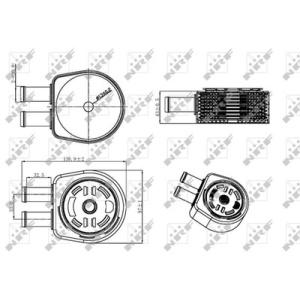 nrf easy fit changeur de chaleur huile moteur 31310 radiateur d 39 huile pi ces auto at. Black Bedroom Furniture Sets. Home Design Ideas