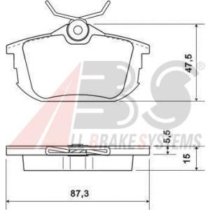 Scheibenbremse A.B.S 36950 Bremsbelagsatz