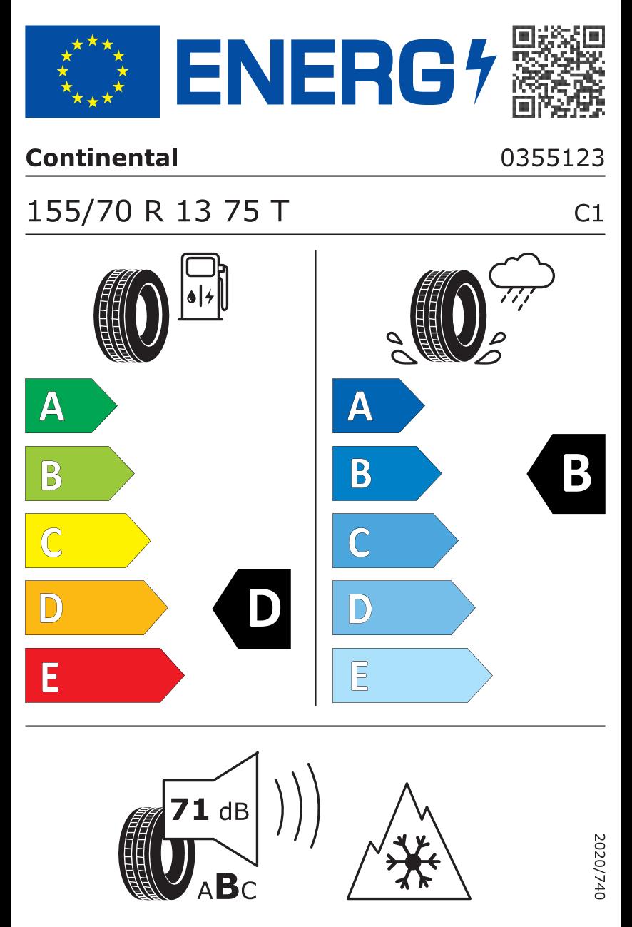 Маркировка шин в EC / Классы эффективности