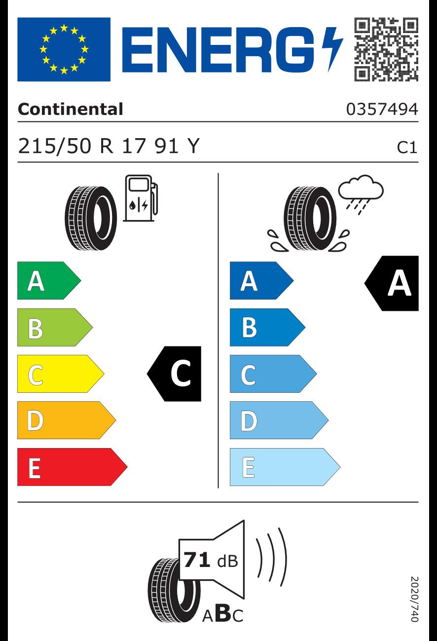 Etiquetado UE neumáticos / Clase de eficiencia