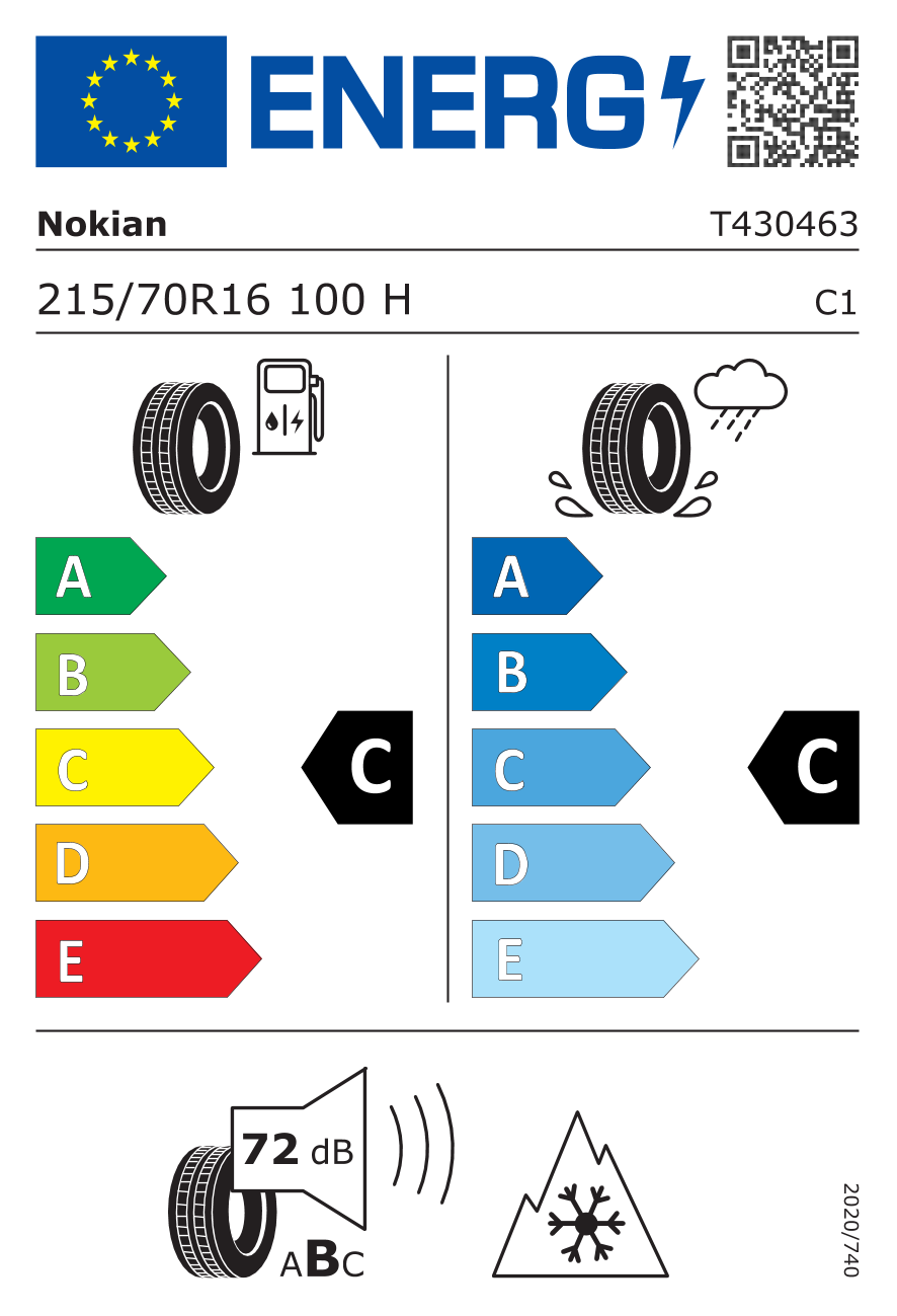 Lastik Etiketi / Verimlilik Sınıfı