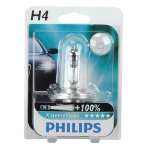 philips xtreme vision h4 100 einzelblister 77281. Black Bedroom Furniture Sets. Home Design Ideas