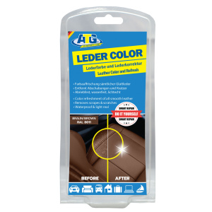 ATG leather color incl. sponge - Removes scratches, abrasions and scuffs on leather and imitation leather in all leather furniture around the car and motorcycle BROWN