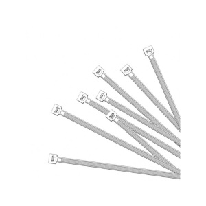 Cable ties 350x4,5mm 50 pieces white