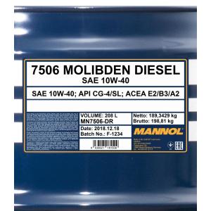 Mannol Molibden Diesel 10W-40
