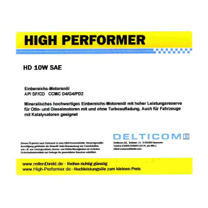 HD SAE 10W Einbereichsöl