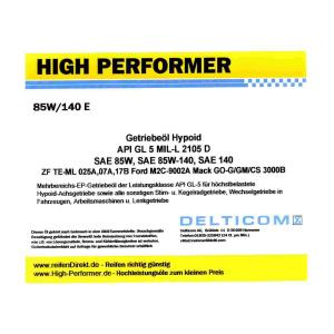 85W-140 EP GL5 - Getriebeöl Hypoid