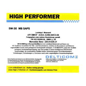 5W-30 SAPS C3 BMW+MB 5 Liter Kanne