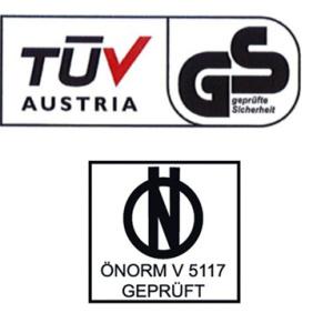Schneeketten PAT 12mm. TÜV-GS geprüft (TÜV Austria)ÖNORM