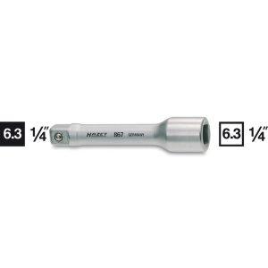 HAZET Extension 867-2 . Square, hollow 6.3 mm (1/4 inch) . Square, solid 6.3 mm (1/4 inch)