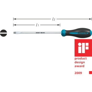 HAZET HEXAnamic® screwdriver 802-30 . Slot profile .  0.6 x 3.5 mm
