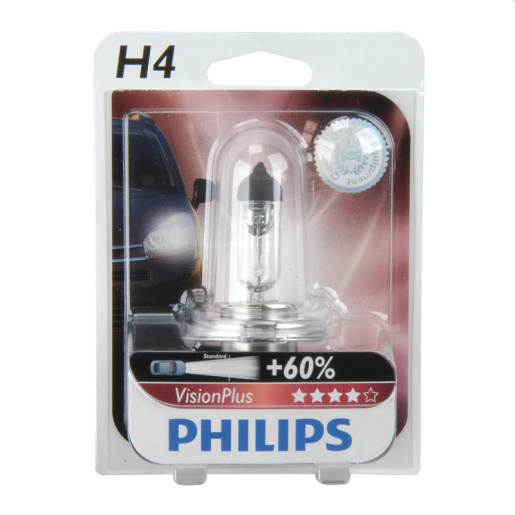 PHILIPS H4 Vision Plus 1er Blister