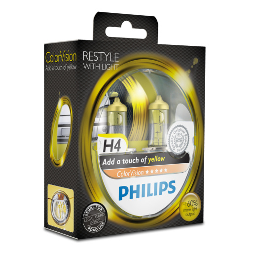 PHILIPS ColorVision H4 gelb