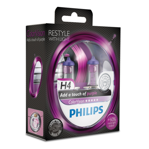 PHILIPS ColorVision H4 pink