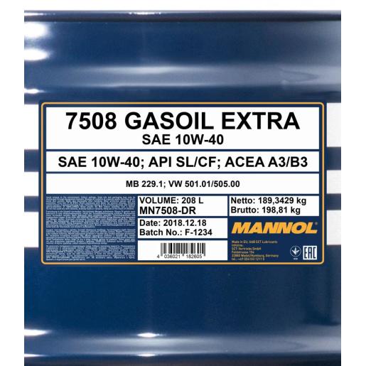 Mannol Gasoil Extra 10W-40