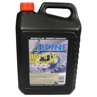 Image of Alpine Brake Fluids Remvloeistof DOT4 LV 5 liter kan