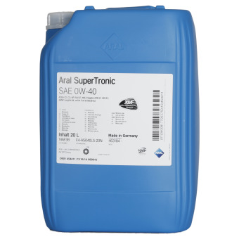 Image of Aral SuperTronic 0W-40 20 liter bidon