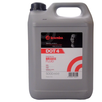 Image of BREMBO Premium Brake Fluid Dot 4 5 liter kan