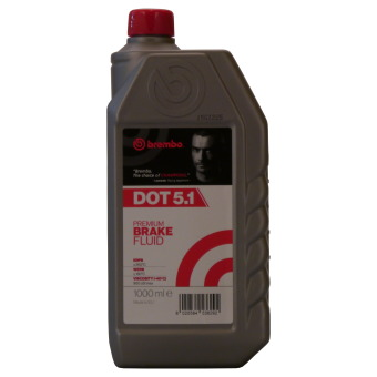 Image of BREMBO Premium Brake Fluid Dot 5.1 1 liter doos
