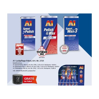 Lack-Pflege Paket (18 x 500ml A1 plus Gratis Zugabe)