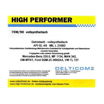 75W-90 GL4/5 VS - liquido per trasmissioni