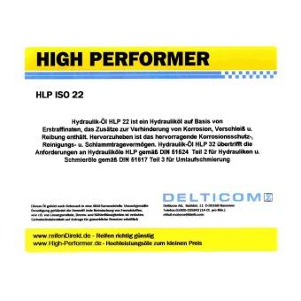 HLP ISO VG 22 Hydraulikolja