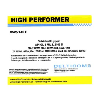 85W-140 EP GL5 - Transmission oil Hypoid