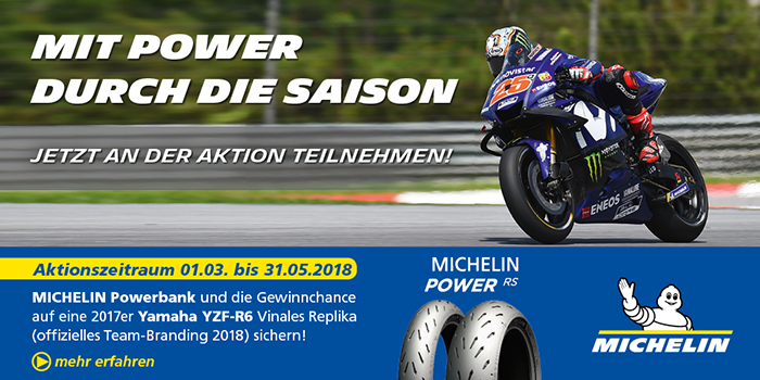 michelin power rs aktion 2018 volle power mit michelin. Black Bedroom Furniture Sets. Home Design Ideas