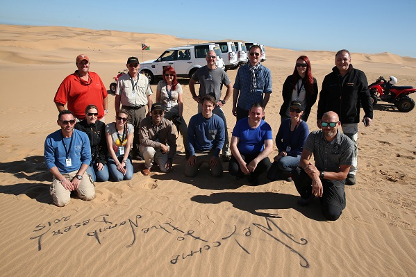 Namibia Travel Group in the desert